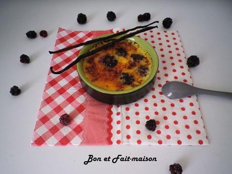 Crèmes brûlées aux mûres {Foodista Challenge #11}