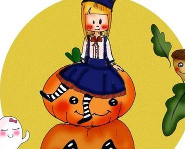 Fruits et légumes d'Octobre, le calendrier et semainier du mois printables