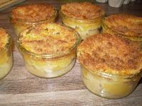 crumble pommes/ poires au beurre salée
