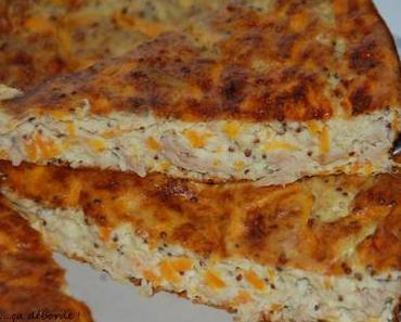 Quiche sans pâte au thon et moutarde à l'ancienne