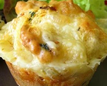Muffins au Morbier des Longevilles Mont d'Or