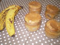 cupcake à la banane et au chocolat