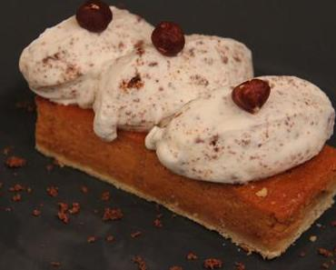 Tarte potimarron et sa chantilly à la noisette