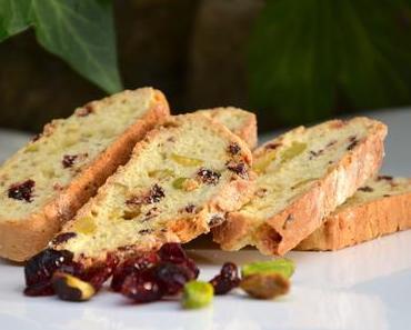 Biscotti pistaches cranberries