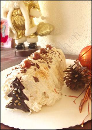 bûche mascarpone vanille-cerises (3)