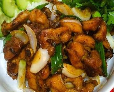 Poulet à la Citronnelle Vietnamien Gà xào xả ớt