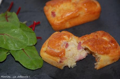Mini cakes oignons lardons fromage