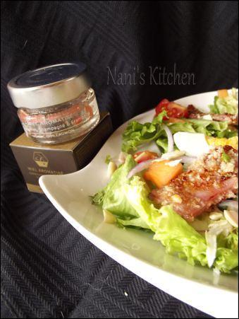 salade jambon pané miel et cacahuètes (5)