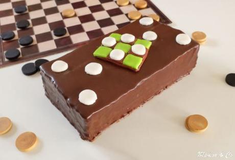 Gateau damier chocolat pistache