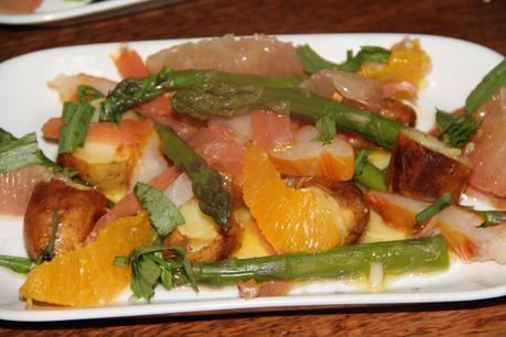 Salade de poissons fumes aux agrumes pour deux for Salade pour accompagner poisson