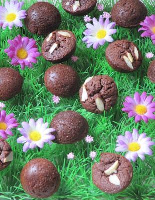 Financiers au chocolat pour Pâques