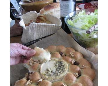Couronne briochée au camembert pour Pâques