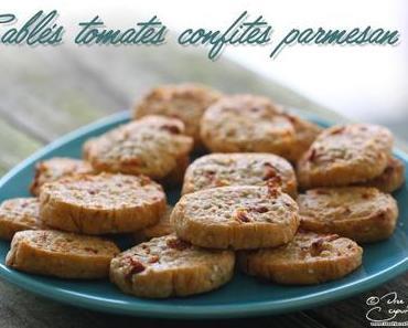 Sablés à la tomate confite et au parmesan