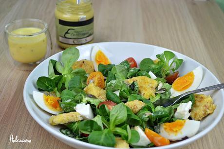 salade compl te avec une sauce yaourt et moutarde. Black Bedroom Furniture Sets. Home Design Ideas