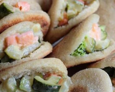 Minis batbouts saumon-courgette