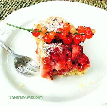 Délice aux groseilles et aux fraises