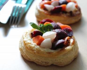 Tartelette feuilletée aux légumes de saison