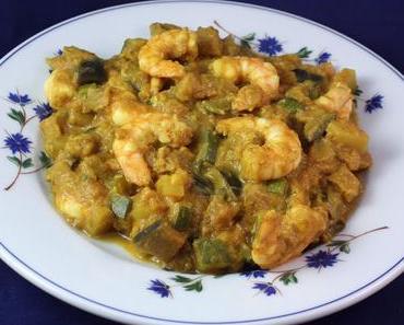 Curry de légumes aux crevettes