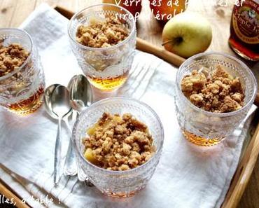 Verrines de pommes, crumble et gelée de sirop d'érable