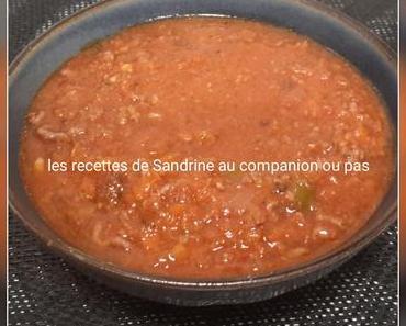 Sauce bolognaise (au companion ou autre robot)