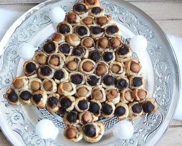 Sapin feuilleté aux mini boudins bicolores et leur chutney de pommes Jour 13 🎄