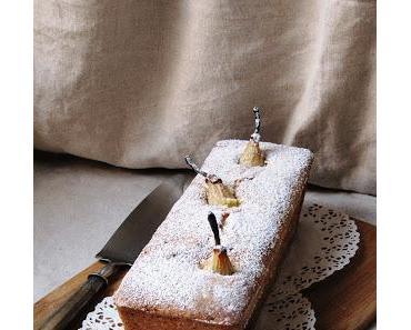 Cake aux poires debout