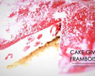 LE CAKE GIVRÉ AUX FRAMBOISES & MASCARPONE