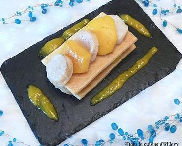 Millefeuille de Saint-Jacques et mangue parfumées à la vanille Jour 22 🎄/ Scallop, mango and vanilla millefeuille Day 22