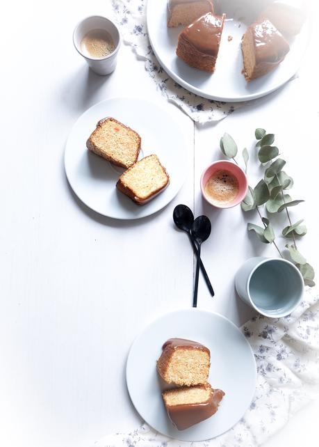 Angel Food Cake à la carotte et au caramel