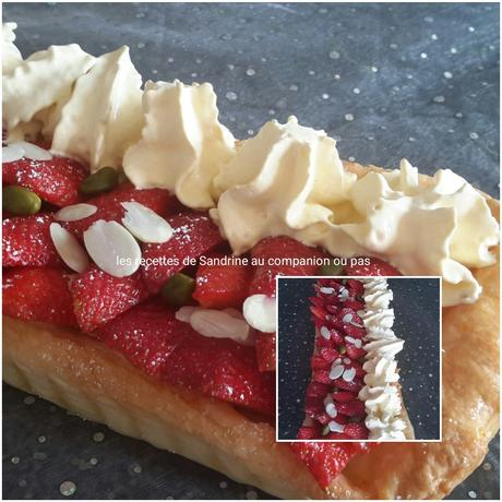 tarte aux fraises et sa chantilly vanille au companion thermomix ou sans robot. Black Bedroom Furniture Sets. Home Design Ideas