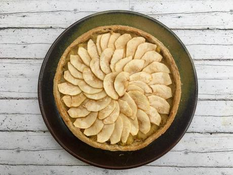 Ma tarte rustique aux 2 pommes ♨