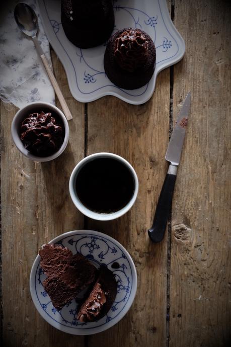 Mini Brownies et crème au chocolat
