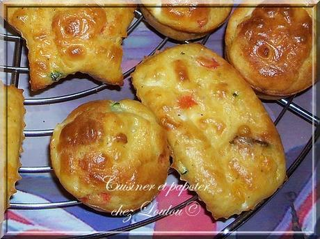 Petits cakes courgette poivron feta