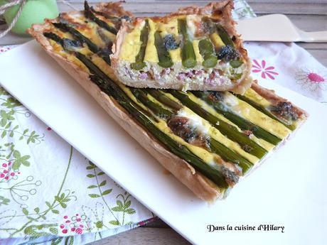 Quiche aux asperges, jambon et fromage de chèvre - Dans la cuisine d'Hilary