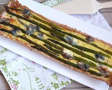 Quiche aux asperges, jambon et fromage de chèvre / Asparagus, ham and goat cheese quiche