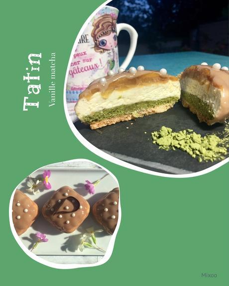 Mini entremets tatin & thé matcha