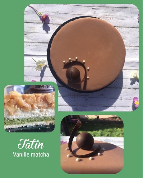 Entremet tatin & thé matcha à partager