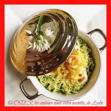 Sp tzle maison l ail sauvage gratin es au four for Ail sauvage cuisine