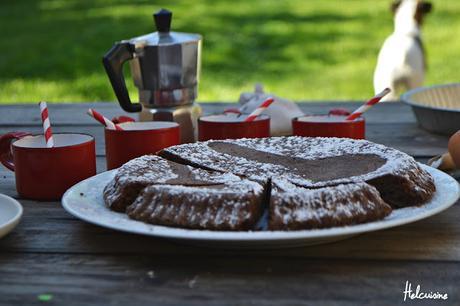 Gâteau au chocolat et fleur de sel