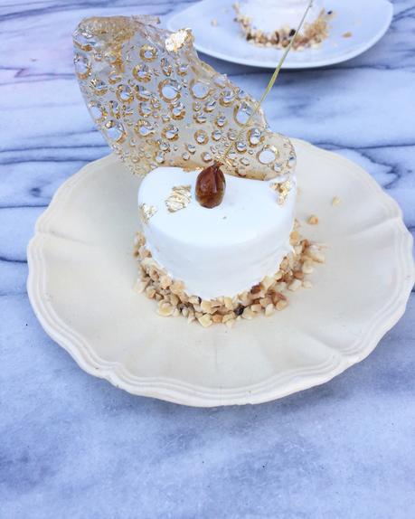 Dessert Individuel Tonka & Caramel Glacage Miroir Blanc