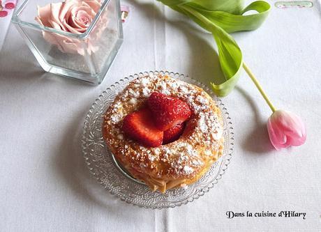 Paris-Brest et ses notes de fraises - Dans la cuisine d'Hilary