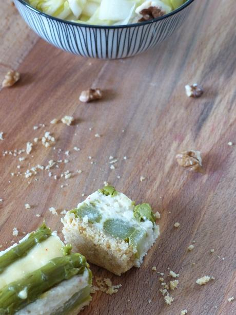 Cheesecake aux asperges et parmesan