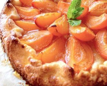 Tarte rustique abricots amande