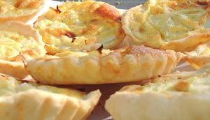 Mini tarte l'oignon avec pâte Tupperware