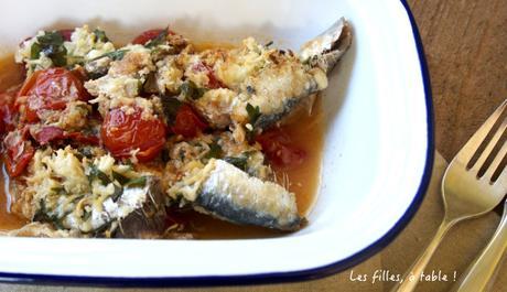 Sardines aux tomates cerises et aux piquillos