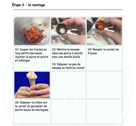 Mini-cornets aux fraises et poivre de sichuan ♨