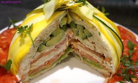 Sandwich Cake au Saumon