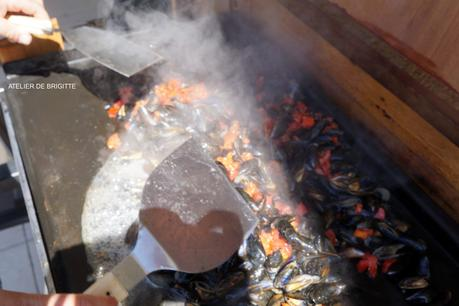 Moules au  Chorizo à la Plancha