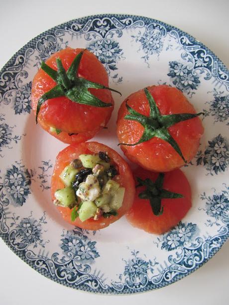 Tomates surprise au concombre & au chèvre