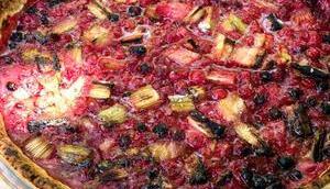 C'est tarte… Tarte groseilles rhubarbe)